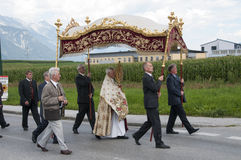 Procession of Maria Ascension in Axams Austria Royalty Free Stock Images