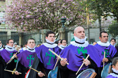 Procession and music Stock Photography