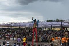 procession på Mysore Fotografering för Bildbyråer