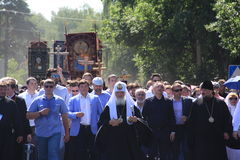 The procession with the participation of the Patriarch of Moscow and all Russia Kirill Royalty Free Stock Photo