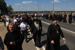 The procession with the participation of the Patriarch of Moscow and all Russia Kirill Stock Photo