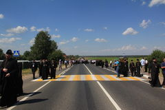 The procession with the participation of the Patriarch of Moscow and all Russia Kirill Stock Image