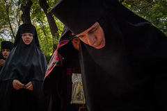 Procession for peace in Kyiv Stock Photos