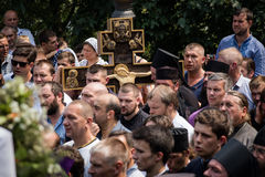 Procession for peace in Kyiv Royalty Free Stock Photography