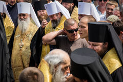 Procession for peace in Kyiv Royalty Free Stock Image