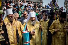 Procession for peace in Kyiv Royalty Free Stock Photos