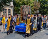 Procession for peace. Ukraine. Kharkiv. July 10, 2016. Procession for peace. Icon of the Mother of God - the main shrine and the patroness of the city of Kharkov Stock Photos
