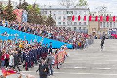 Procession of the people in Immortal Regiment on annual Victory Royalty Free Stock Photos