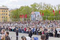 Procession of the people in Immortal Regiment on annual Victory Stock Photography