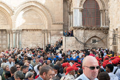 The procession of pilgrims in Jerusalem Royalty Free Stock Photography
