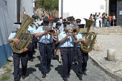 Procession in Portugal August 15, 2007 Royalty Free Stock Photo