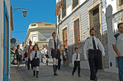 Procession in Portugal August 15, 2007 Royalty Free Stock Photography