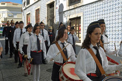 Procession in Portugal August 15, 2007 Royalty Free Stock Images