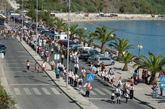 Procession in Portugal August 15, 2007 Stock Photos