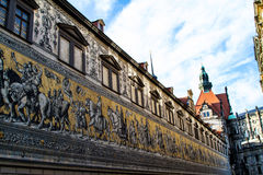 Procession of Princes. In Dresden, Germany Royalty Free Stock Images