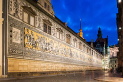 Procession of Princes in Dresden Stock Image