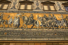 Procession of Princes Furstenzug, Old Buildings in Center of City Dresden, Germany Stock Images