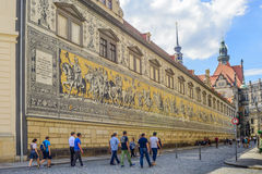 Procession of Princes wall in Dresden Stock Image