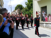 Procession for rain, Avlioles, Corfu Stock Photography