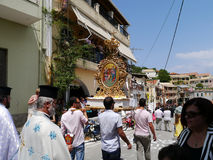 Procession for rain, Avlioles, Corfu Royalty Free Stock Photos
