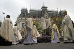 Procession with the relic of Saint Pope John Paul II Stock Photo