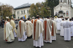Procession with the relic of Saint Pope John Paul II Royalty Free Stock Images