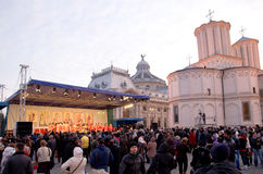 Procession at Romanian Patriarchy Royalty Free Stock Photos