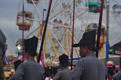 The celebration procession sekaten yogya 2017. The procession of sacred celebration in the northern square of Yogyakarta to Gedhe Kauman Mosque Yogyakarta Stock Image