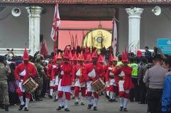 The celebration procession sekaten yogya 2017. The procession of sacred celebration in the northern square of Yogyakarta to Gedhe Kauman Mosque Yogyakarta Royalty Free Stock Image