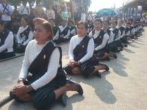 Procession Sriaraya arkivfoto