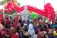 Procession of street party Parrandas in Cuba Royalty Free Stock Photography