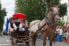 Procession at 'Villacher Kirchtag' Royalty Free Stock Photo