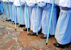 Procession of the Virgin of the mountain, feast of the patroness, Caceres, Extremadura, Spain Royalty Free Stock Image