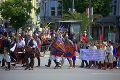 Processione bulgara storica dei caratteri Immagini Stock