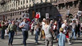 Processione del reggimento pubblico dell'immortale del movimento video d archivio