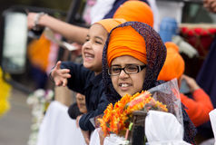 Processione del Sikh di Nagar Kirtan Immagine Stock Libera da Diritti