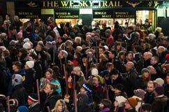 Processione del torchlight di Edinburgh immagini stock
