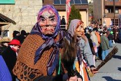 Processione della via al carnevale tedesco Fastnacht Immagine Stock Libera da Diritti