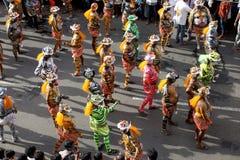 Processione di ballo della tigre fotografia stock libera da diritti