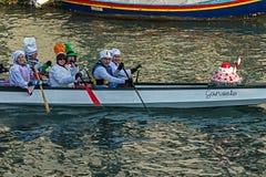 Processione di carnevale di apertura a Venezia, Italia 5 Immagini Stock