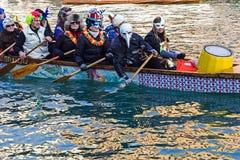 Processione di carnevale di apertura a Venezia, Italia 4 Fotografia Stock