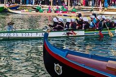 Processione di carnevale di apertura a Venezia, Italia 9 Fotografia Stock