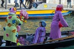 Processione di carnevale di apertura a Venezia, Italia 8 Fotografia Stock Libera da Diritti