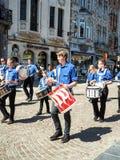 Processione di Hanswijk nel centro urbano di Malines, Belgio fotografie stock libere da diritti