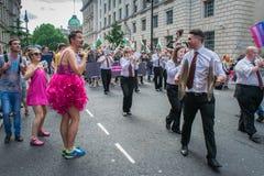 Processione di orgoglio di Londra Immagini Stock Libere da Diritti