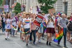 Processione di orgoglio di Londra Fotografia Stock Libera da Diritti