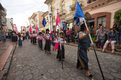 Processione di Pasqua in Cotacachi Ecuador Fotografia Stock Libera da Diritti