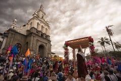 Processione di Pasqua in Cotacachi Ecuador Immagini Stock Libere da Diritti