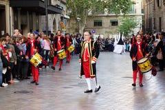 Processione di Pasqua in Palma de Mallorca immagine stock libera da diritti