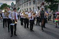 Processione Londra di gay pride Fotografie Stock Libere da Diritti